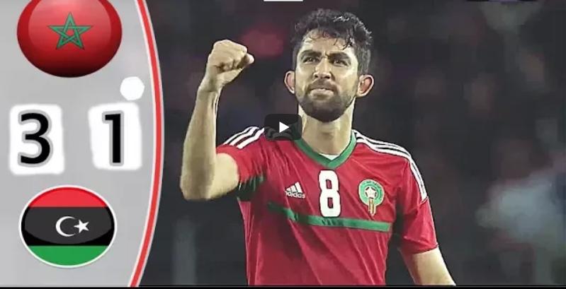 فيديو . ملخص مباراة المغرب و ليبيا 3 – 1   نصف نهائي بطولة أمم أفريقيا للاعبين المحليين
