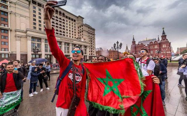 صورة موسكو تكتسي الألوان المغربية