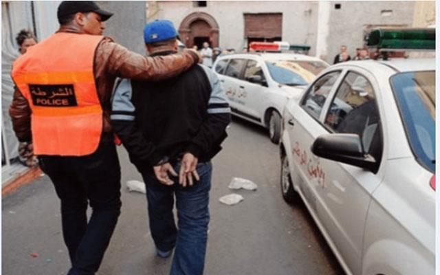 صورة إيقاف حارس إقامة بسبب سرقات متتالية بأصيلة