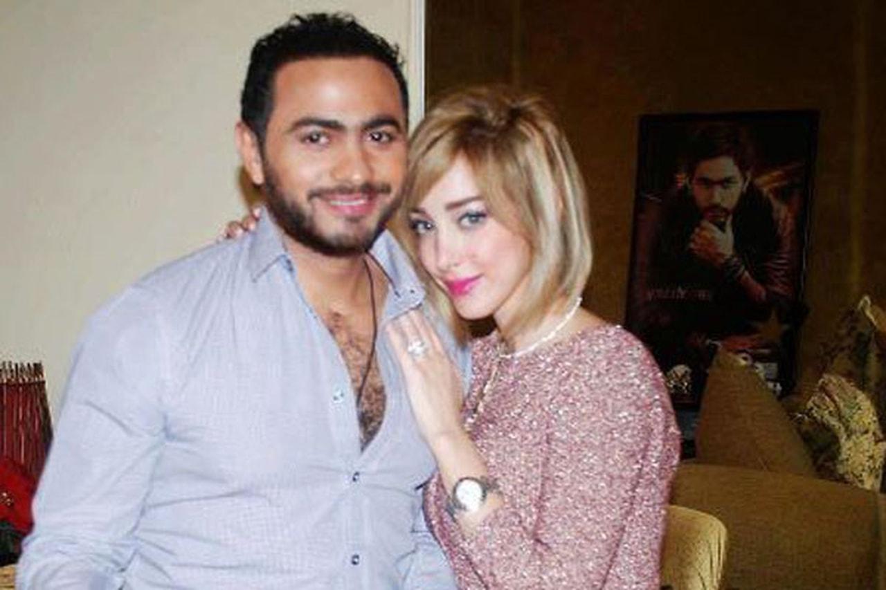 صورة بسمة بوسيل تكشف حقيقة خيانة زوجها تامر حسني