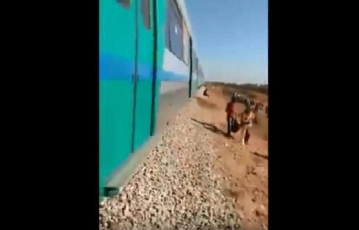 """صورة تونس …سائق قطار يشارك في تحدي """"كيكي"""" ويُرعب الركاب """"فيديو"""""""