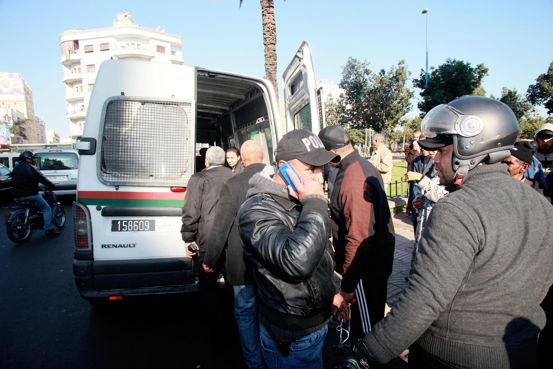 صورة اعتقال معترض سبيل الطالبات باستعمال دراجة وسكاكين بفاس