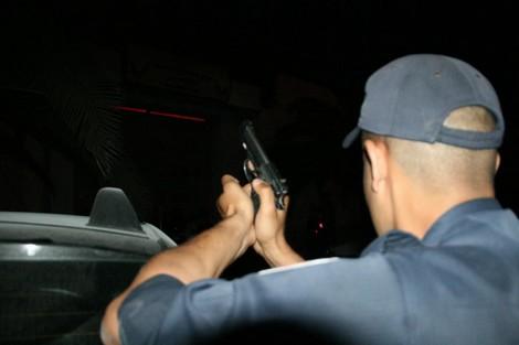 صورة إطلاق الرصاص بتزنيت لإيقاف جانح واجه الأمن بسيف