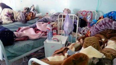 صورة فوضى وتكسير تجهيزات بمستشفى آسفي بعد وفاة أربعة مواليد جدد