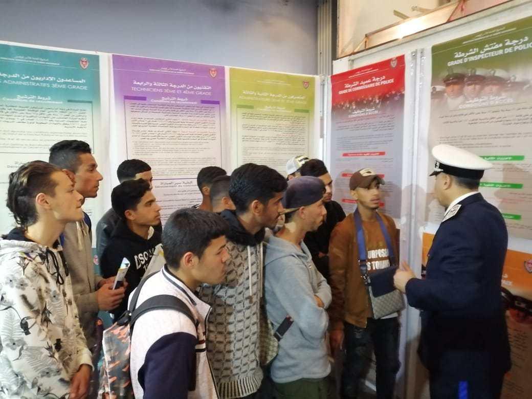 إقبال كبير لمرشحي الباك على رواق الأمن بمعارض التوجيه المدرسي - الأخبار جريدة إلكترونية مغربية مستقلة.