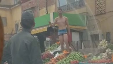 صورة اعتقال بائع متجول اعتدى على قائدة بسيدي سليمان