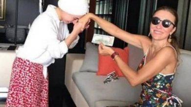 صورة زوجة وزير من العدالة والتنمية تطلب من خادمتها تقبيل يدها مقابل 100 دولار