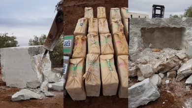 صورة شاهد آخر مكاين فالتهريب…أطنان من المخدرات وسط الرخام في فاس