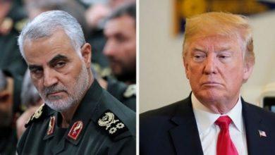 صورة ترامب يقتل رجل إيران القوي في العراق
