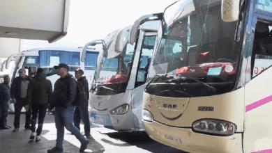 صورة توقيف حافلات نقل المسافرين بين المدن لمنع تفشي كورونا