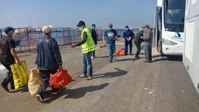 صورة إجراءات مشددة مع بحارة بميناء طانطان