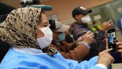 صورة مغادرة 7 حالات للمستشفى بعد تعافيها من كورونا بسلا