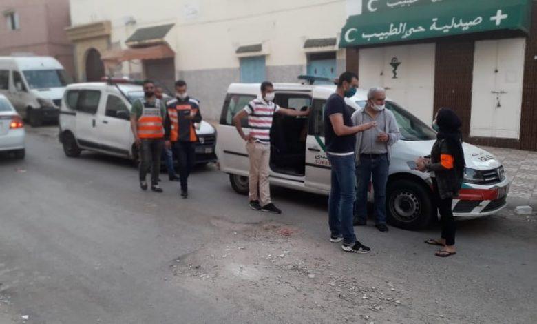 صورة إطلاق الرصاص لإيقاف خارقي الطوارئ بالقنيطرة