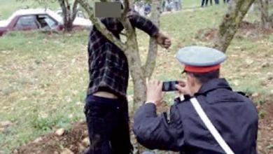 صورة العثور على قاصر وشاب منتحرين شنقا بجذع شجرة ضواحي تطوان