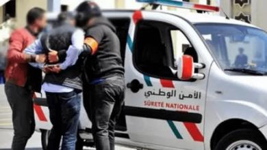 صورة اعتقال مغتصب قاصر تحت التهديد بالرباط
