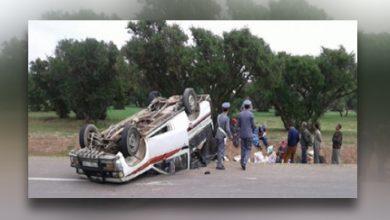 صورة حادثة سير تودي بحياة تلميذة تعمل في ضيعة فلاحية وجرح 19 أخريات