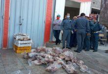 صورة درك سطات يحجز خمسة أطنان من اللحوم الفاسدة