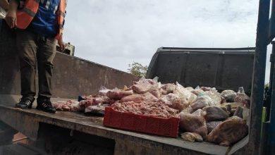 صورة ضبط طن من اللحوم الفاسدة موجهة لسكان طنجة