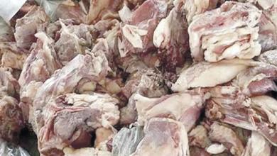 صورة حجز لحوم فاسدة بمحل للجزارة ومطعم ببنسليمان